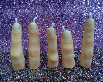 Severed Finger Candle