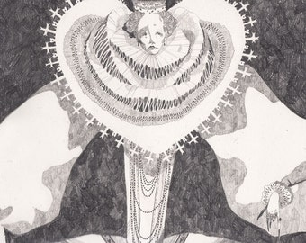 """The Queen of Hearts - 11.5""""x16"""" Archival Art Print"""