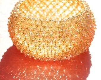 Capricho Bracelet Swarovski Crystal Bracelet, Gold Wedding Bridal  Bridesmade Hollywood jewelry Gold crystal Bracelet, Wedding jewelry