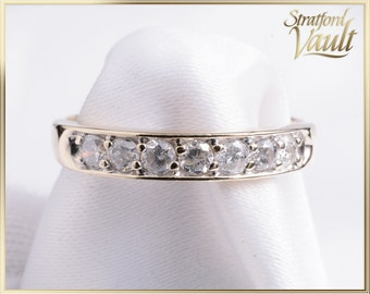 Vintage ~ Ladies Diamond Wedding Band ~ 14K Yellow Gold Setting ~ 0.70ctw Genuine Brilliant Cut H/I1 Diamonds ~ STR17102 ~ GIA ~ 2000.00
