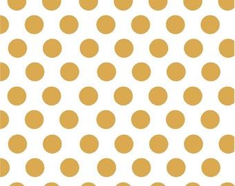 Gold dot craft  vinyl sheet - HTV or Adhesive Vinyl -  white with large polka dot pattern not metallic HTV755
