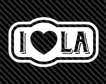 I Love LA - Los Angeles Sticker Vinyl Decal Car Truck - Choice of Colors