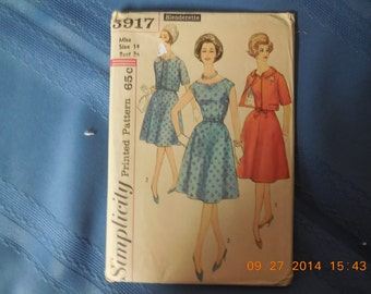 Simplicity pattern size 14 dress with jacket.