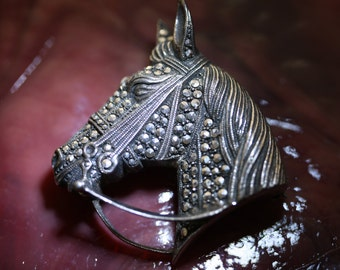 Fabulous Alice Caviness Vintage Horsehead Pin