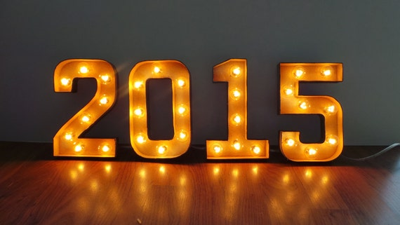 Light Up Signs Custom: 8 SINGLE Number Or Letter Light Up Marquee Sign Custom