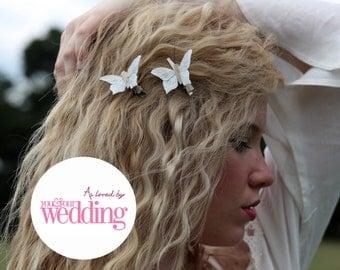 Butterfly hair clips, Boho hair accessory, Boho Hair Clip, Wedding Hair Accessory, Bridal Hair, Bridal Hair Accessory, Wedding Hair Clip