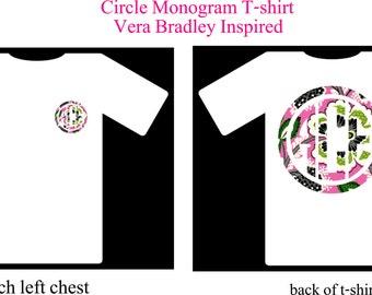 Monogram Shirt, Vera Bradley Inspired Monogram Shirt