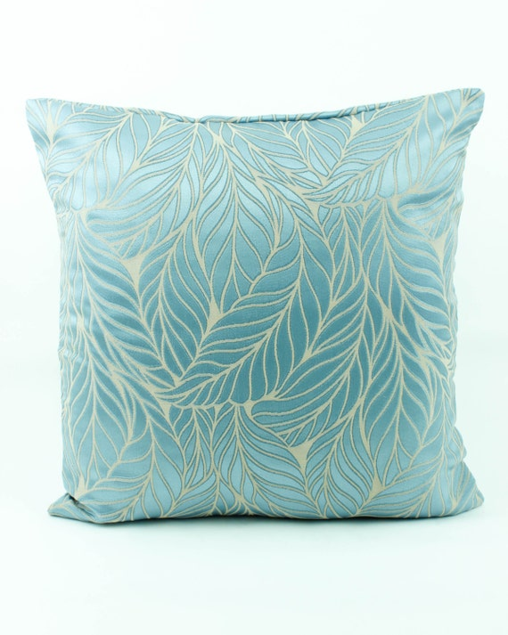 Light Blue Silk Throw Pillow : Decorative throw pillow cover 18x18 Light Sky Blue by Fabricasia