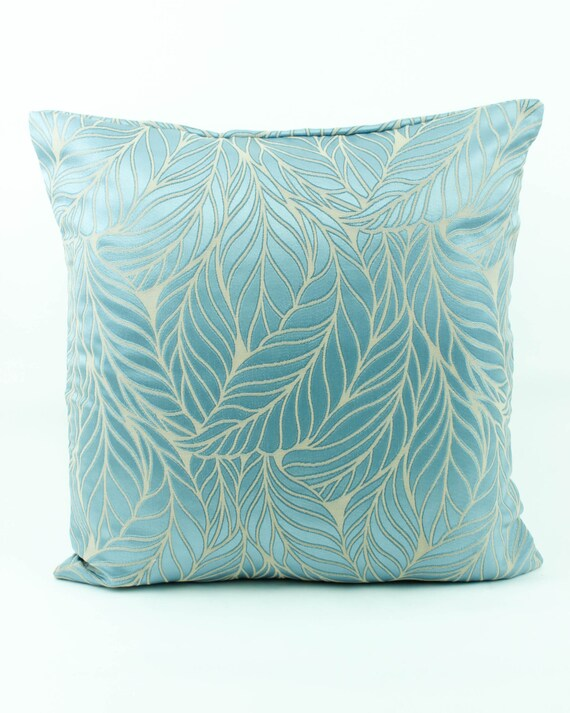 Decorative throw pillow cover 18x18 Light Sky Blue by Fabricasia