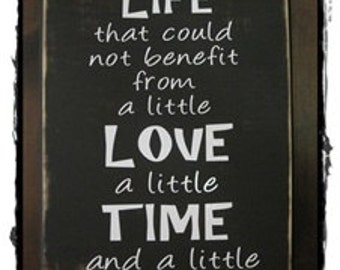 """Life, Love, Time, Butter sign; aprox. 11"""" x 18"""", kitchen wall art, home decor, distressed, rustic"""