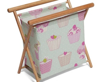 Cupcake Knitting & Crochet Stand: Blue and Pink