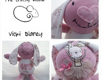 Keepsake Bunny- Made From Special Items of Clothing