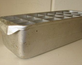 Vintage Double Layer Metal Ice Tray - Very Unique!