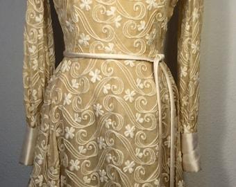 FREE  SHIPPING   1950  Silk Organza Dress