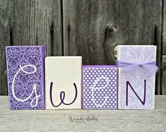 Personalized Name Blocks Nursery Decoration Kids Name Blocks Baby Shower Gift