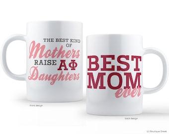 Alpha Phi Best Mom Sorority Mug