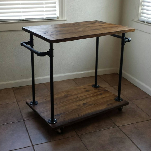 Industrial Rolling Kitchen Cart: Industrial Kitchen Cart Bar Cart Serving By MaverickIndustrial
