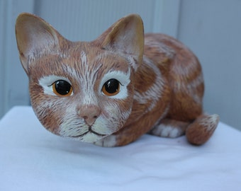 Vintage Handmade Kitty Cat Ceramic Figurine item 3101