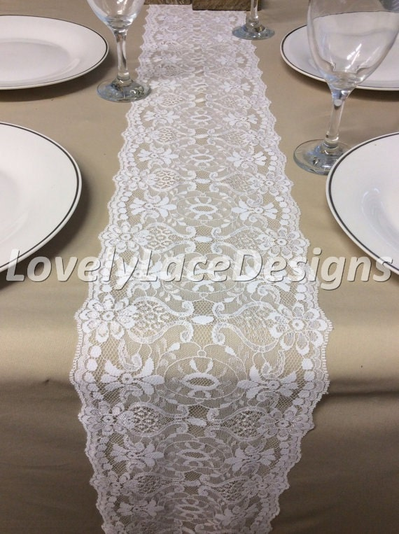 white lace table runner 5ft 10ft x wide rustic weddings table