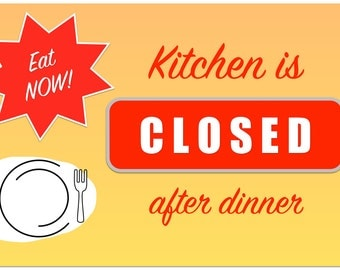 """Placemat: """"Kitchen is Closed"""" Durable • Laminated • Reversible"""