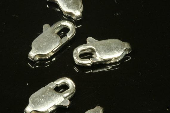 20 pcs nickel free brass and copper lobster claw clasps 12 x 6 mm CL20FN