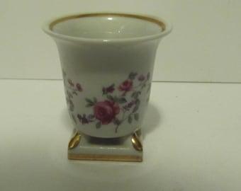 Porcelain Rose Candle Holder