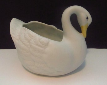 Bisque Swan by Homco