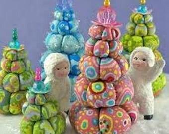 Cream Puff Christmas Trees Pattern by La Todera