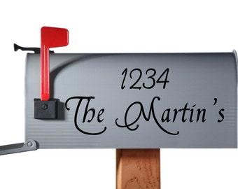 Custom Mailbox vinyl decal personalized address lastname sticker
