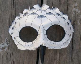 Leather Owl Mask Bird Mask Snowy Owl Mask