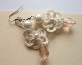 Wedding Tatted Earrings - for the bride or the bridesmaids!