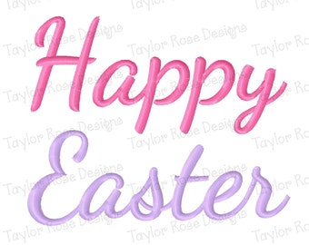 Happy Easter Machine Embroidery Design 3x3 4x4 5x7 INSTANT DOWNLOAD