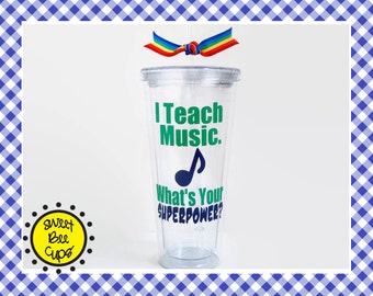 Music Teacher Gift, I Teach Music. Whats Your SUPERPOWER? Related Arts Teacher, PE Teacher, Art Teacher, Specials Teacher, Resource Teacher
