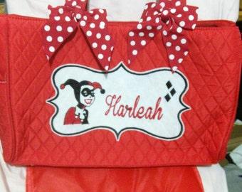 Harley Quinn Personalized Tote/Diaper Bag