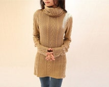Fashion sweater knitwear / comfortable sweater / High collar pullover