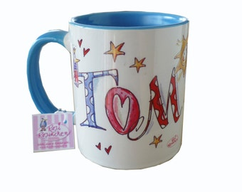 Cup name, light blue