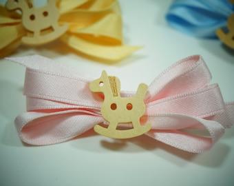 Cute Horse Bow hair clip, Baby hair clip