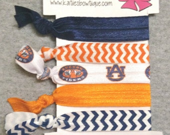 Auburn University Tigers FOE Elastic hairbands - set of 5