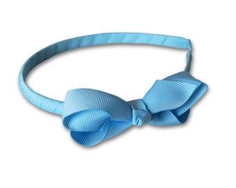 Bow headband, blue Headband, Girls Headband, toddler headband