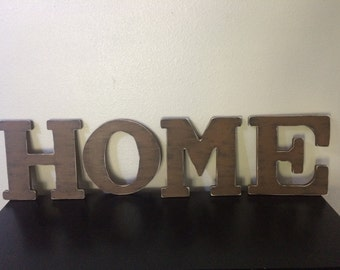 "12"" HOME wooden letter Shabby chic rustic letter Personalized wooden letter Distressed wooden letter"