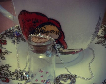 Alice in wonderland inspired necklace
