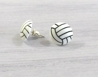 Volleyball Gifts, Volleyball Earrings, Tiny Volleyball, Mini Volleyball Stud Sports Earrings Volleyball Jewelry Team Sports Volleyball Post