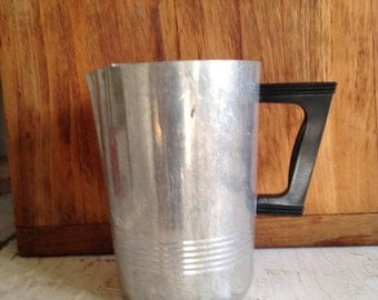 Vintage Art Deco Aluminum Pitcher