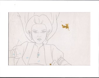 Legend of ZELDA Original Animation Cel Drawing DIC Matted 1989