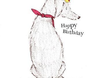 Happy Birthday... Rosie & Radish SCRUFF Sitting Greeting Card