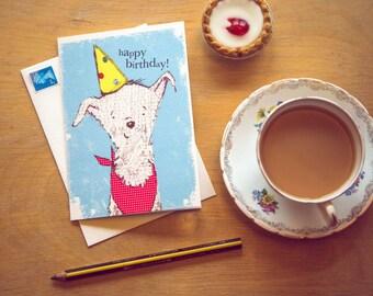 Happy Birthday... Rosie & Radish SCRUFF with Hat Greeting Card