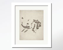 abstract elephant art print abstract animal art print abstract wall cottage rustic decor home abstract painting art abstract print wall art