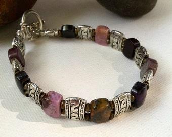 Men's Bracelet, Men's jewelry, Men's Sugalite Bracelet, Mens beaded bracelet, Men's gifts, Gifts for Men, Christmas gifts for men