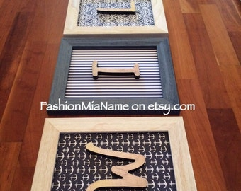 Framed NAUTICAL WALL DECOR | Framed nautical letters | 4 letter name | Nautical themed nursery | Baby boy shower gift