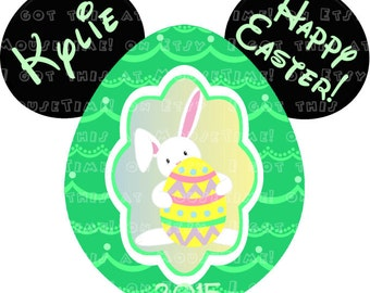 IRON-ON Easter Egg Ears (Mickey) - FIVE Colors! - Mouse Ears Tshirt Transfer